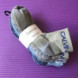 Calvin Klein 6 Pairs Men Cushion Quarter Cut Socks